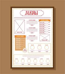editable menu templates classic menu template free vector 17 547 free vector