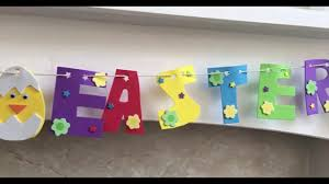 Easter Garlands Decorations by Diy Superb Easter Garland Decoration Idea Easy Crafts With Kids