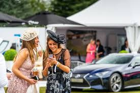 lexus female models lexus shines brightly under the cloudy skies at salon prive 2016