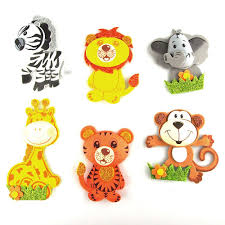 safari animals foam foam decor 6 pairs small safari animals