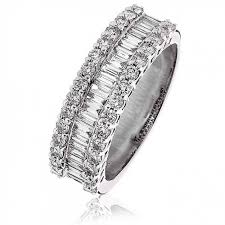 half eternity ring baguette half eternity ring 1 10ct 18k white gold