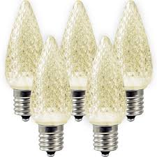 warm white c9 led replacement bulbs 25 pack