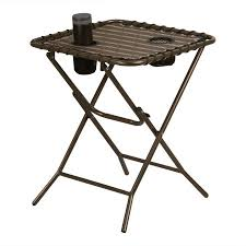 Walmart Camping Table Finether Folding Side Table With Mesh Drink Holders For Patio