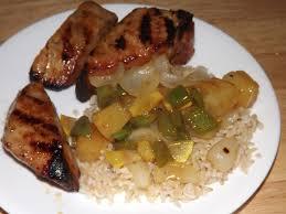 at home bistro boneless hawaiian pork ribs and veggies