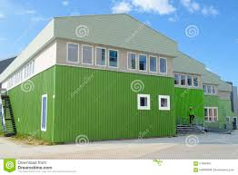 Color House by Same Green Color For House And Jacket Editorial Image Image