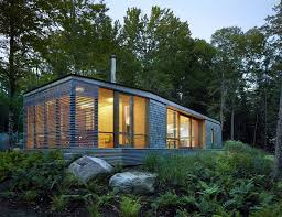 Contemporary Cottage Designs by Ultra Modern Cabin Blends Rustic Warmth With Modern Minimalism