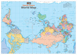 Antarctica World Map by Australia Upside Down World Map Buy Upside Down World Wall Map