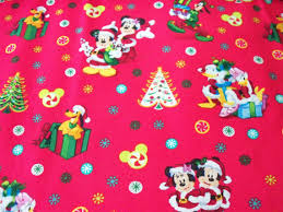 minnie mouse christmas wrapping paper mickey mouse fabric christmas minnie by quarter new btfq from