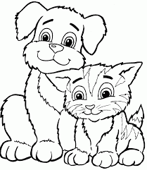 puppy and kitty coloring pages fablesfromthefriends com
