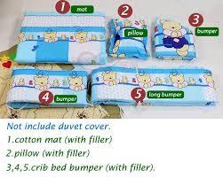 Kids Bedding Sets For Girls by 5pcs Set 120x70cm Newborn Baby Crib Bedding Set For Boys
