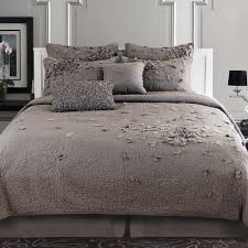 Light Gray Comforter by Bedroom Black And Gray Comforter With Sham On Grey Bed Frame With