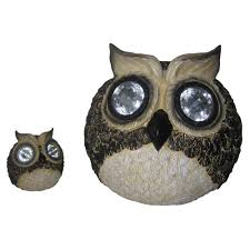 Owl Patio Lights by Smart Solar Solar Owl Accent Lights Set Of 2 3563wrm2 The Home Depot