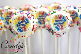 themed cake pops happy birthday edible decal cake pops candy s cake pops