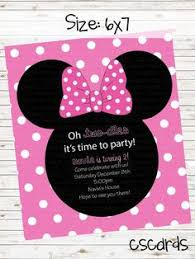 oh toodles minnie mouse birthday party invitation pink black