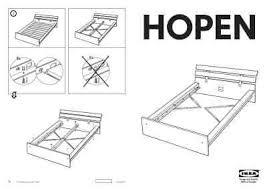 Ikea Hopen Bed Frame Ikea Hopen Bedframe Furniture Manual For Free Now 40796