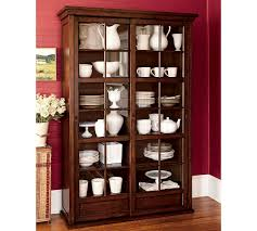 Pottery Barn Dishes Race Through Time Garrett Glass Cabinet