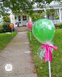 turn balloons into suckers for a candy themed party party ideas