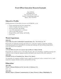 front desk receptionist sample resume job application for