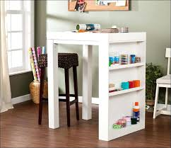 counter height desk with storage counter height craft desk thesocialvibe co
