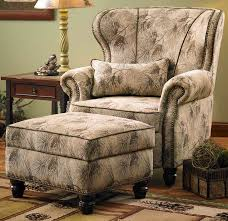 White Chair With Ottoman Arm Chairs And Ottomans Wings