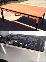 pottery barn kids craft table very used but super cheap on