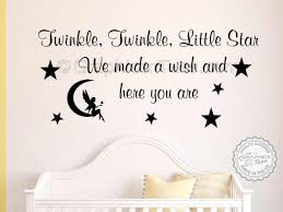 Girls Bedroom Wall Quotes Twinkle Twinkle Little Star Nursery Wall Sticker Baby Boy