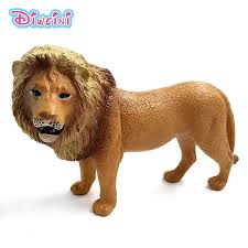 lion figurine zoo lion simulation animals model kids toys children s gift