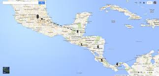 America Central Map by Central America Map With Capitals Roundtripticket Me