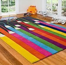 teppich für jugendzimmer kinderteppich kunterbunt fröhliche stimmung im kinderzimmer