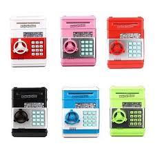 atm bank cash machine coin note counter saving money box gift