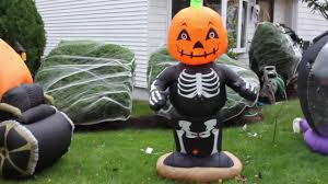 Garden Halloween Decorations My Airblown Inflatable And Halloween Decorations Display 2016