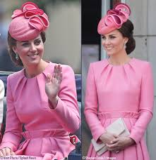 kate middleton dresses kate in pink mcqueen u0026 the children charm at trooping the