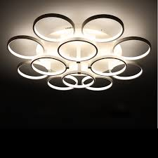 designer deckenleuchten led 110v 220v led circle rings ceiling l avize laras de techo