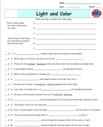 light and color worksheet free worksheets library download and