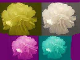 Topiary Balls With Flowers - learn how to make tissue paper flowers or topiary balls youtube