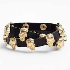 skull bracelet leather images Sassy chic skull bracelets skull bracelet jpeg