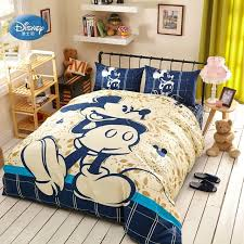 Mickey Mouse Bed Sets Disney Navy Blue Mickey Mouse Bedding Sets Children Bedroom Decor