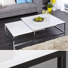 Couchtisch Weiss Design Ideen Design Couchtisch 2er Set Big Fusion Hochglanz Weiss Chrom Tisch