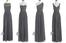 of honor dresses custom made grey chiffon bridesmaid dresses mismatch of honor