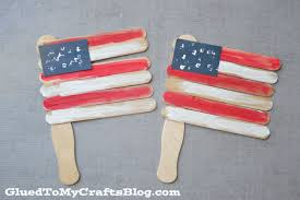 popsicle stick flags kid craft