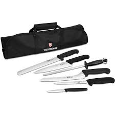victorinox kitchen knives fibrox amazon com victorinox 7 piece culinary knife set 5 knives 1