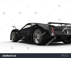 pagani zonda side view shiny modern black concept super car stock illustration 664880461
