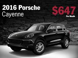 lease a porsche cayenne porsche cayenne lease car and accessories