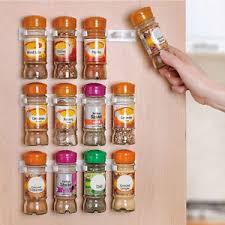 Cabinet Door Clips Spice Organizer Rack Cabinet Door Clips Bottles Wall Mount Kitchen