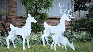 christmas deer yard decorations best christmas decorations