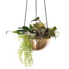 hanging planters unique concrete metal and wood products in sek design