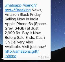 amazon black friday sale 2016 india beware of this fake whatsapp message it u0027s a scam quick heal