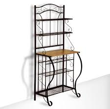 microwave carts and stands ornate scroll black metal wall hutch
