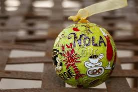 new orleans food themed cloisonne ornament