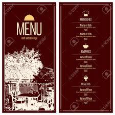 restaurant menu design vector menu brochure template for cafe